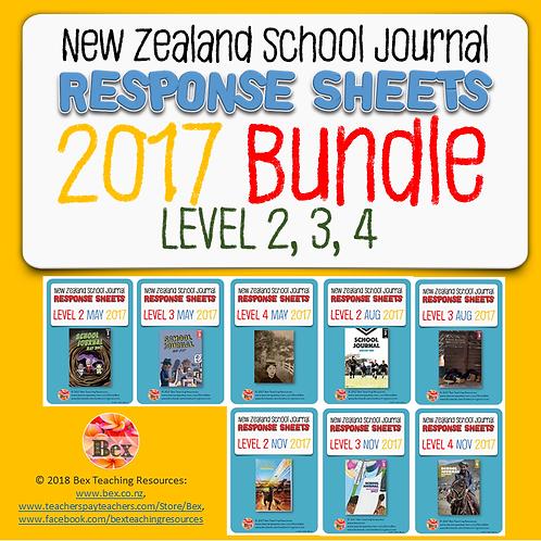 NZ School Journal Responses - 2017 Bundle - Level 2 - 4