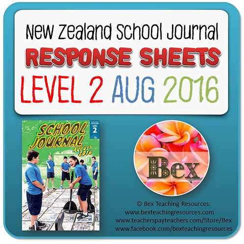 NZ School Journal Responses - Level 2 August 2016