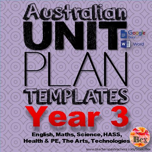 Australian Unit Plan Templates - Year 3