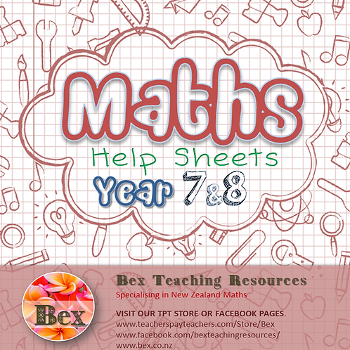 Maths Help Sheets Year 7 & 8