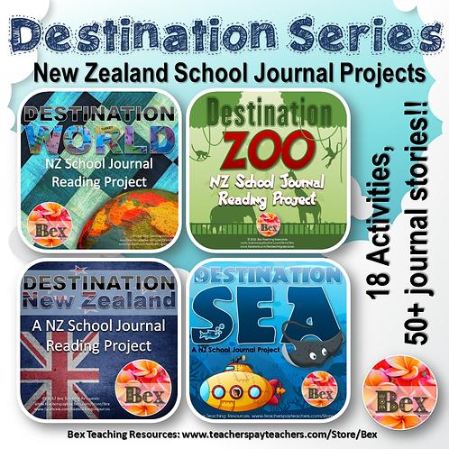 Destination Series Bundle - NZ School Journal Projects