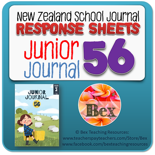 NZ Junior Journal 56 Reading Responses