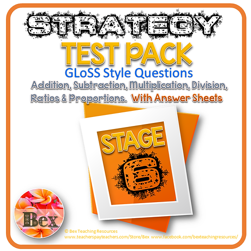 Strategy Tests Pack - Stage 6 - Gloss Style Questions - New Zealand