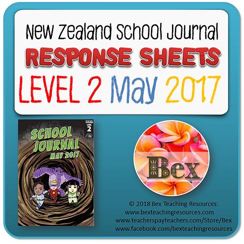 NZ School Journal Responses - Level 2 May 2017 NZ School Journal Respons