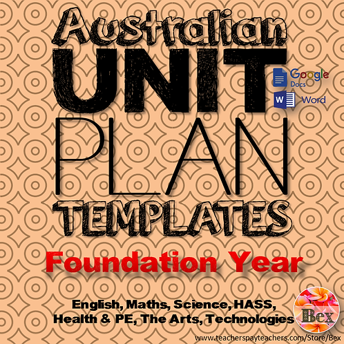 Australian Unit Plan Templates - Foundation Year