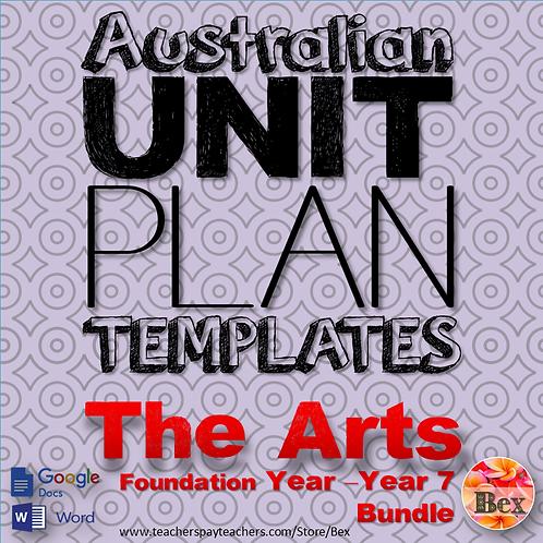 Australian Unit Plan Templates - The Arts Pack - Foundation Year - Year 8