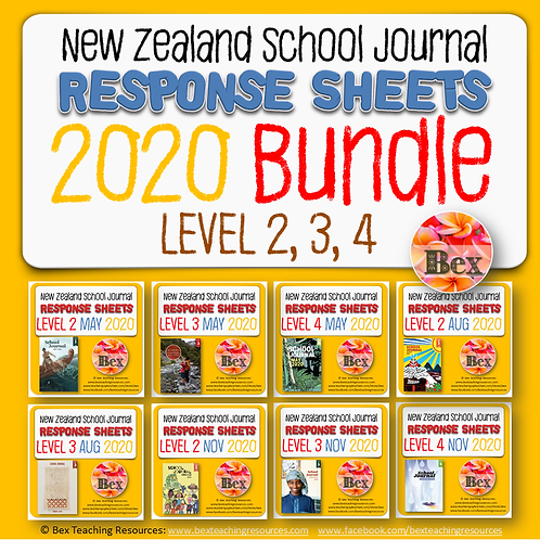 NZ School Journal Responses - 2020 Bundle - Level 2 - 4