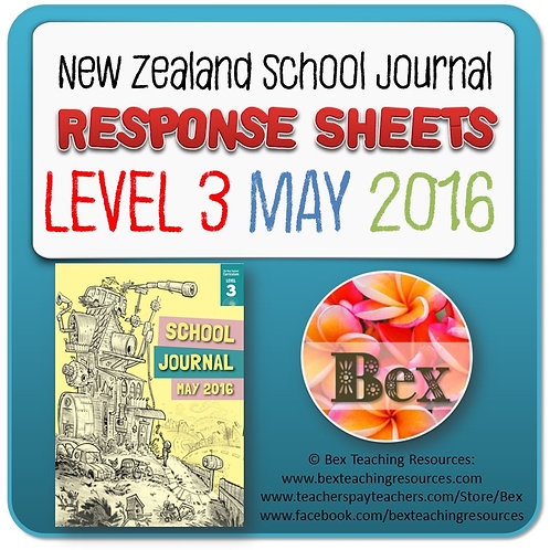 NZ School Journal Responses - Level 3 May 2016