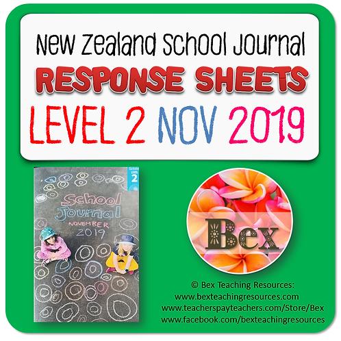 NZ School Journal Responses - Level 2 November 2019