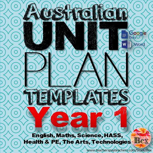 Australian Unit Plan Templates - Year 1