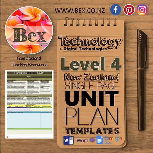 New Zealand Technology Unit Plan Template (Level 4 NZC)