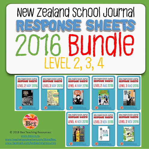 NZ School Journal Responses - 2016 Bundle - Level 2 - 4