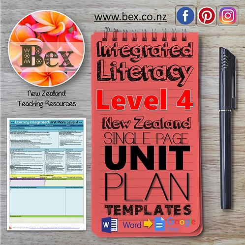 New Zealand Integrated Literacy Unit Plan Template (Level 4 NZC)
