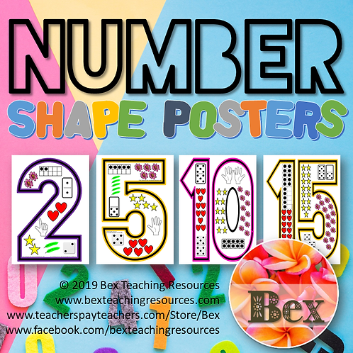 Number Shape Posters 1-20