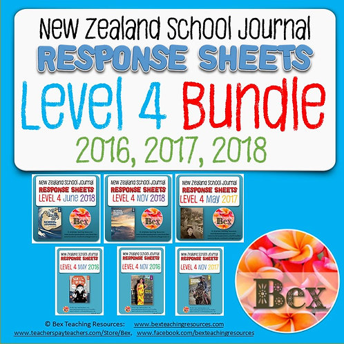 New Zealand School Journal Level 4 - 2016, 2017, 2018 Bundle