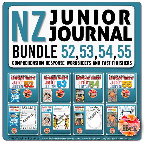 NZ Junior Journal Bundle 52-55 - Reading Responses