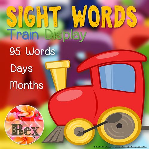 95 Sight Words Train Display