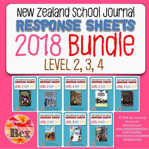 NZ School Journal Responses - 2018 Bundle - Level 2 - 4