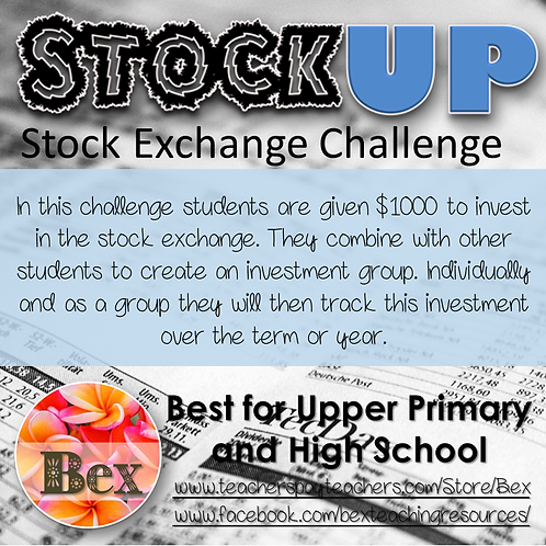 StockUp - A Stock Market project for the Maths classroom