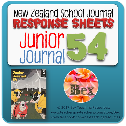 NZ Junior Journal 54 Reading Responses