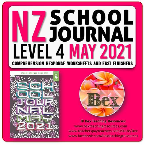 NZ School Journal Responses - Level 4 May 2021
