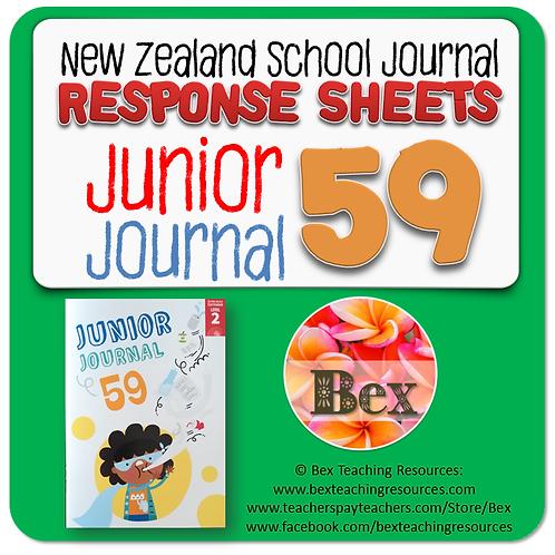 NZ Junior Journal 59 Reading Responses