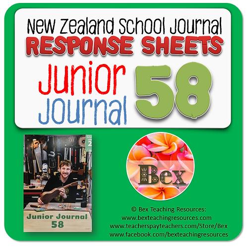 NZ Junior Journal 58 Reading Responses
