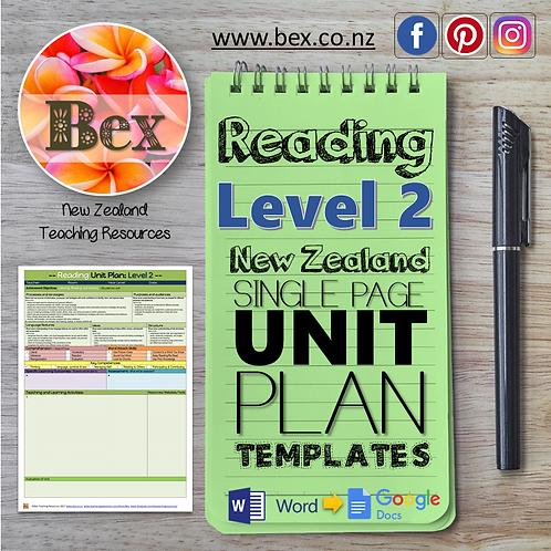 New Zealand Reading Unit Plan Template (Level 2 NZC)