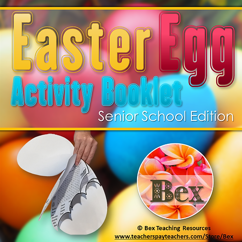 Easter Egg Activity Booklet - Senior School Edition