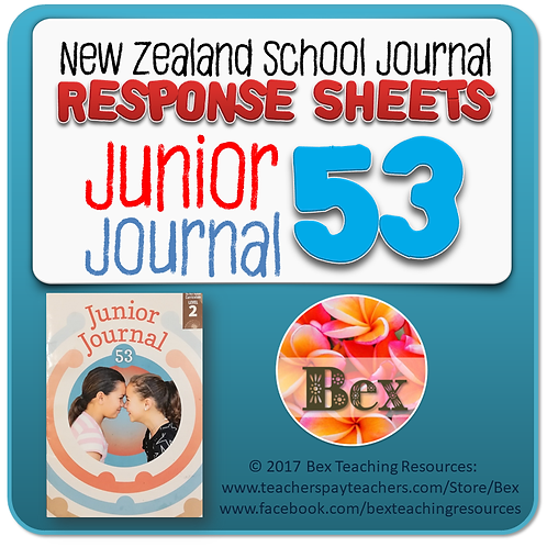 NZ Junior Journal 53 Reading Responses