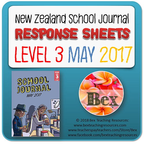 NZ School Journal Responses - Level 3 May 2017 NZ School Journal Responses - Le