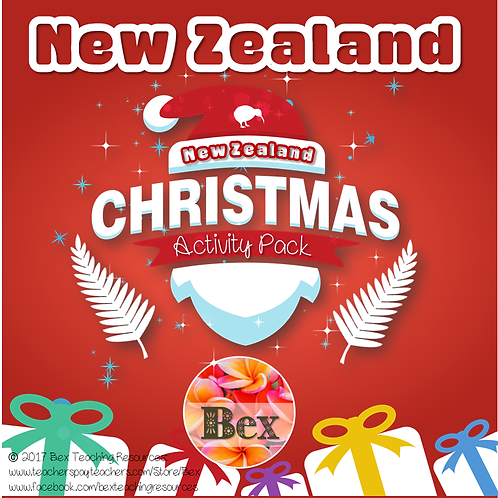 New Zealand Christmas Fun Activity Pack