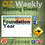 Thumbnail: Australian Maths Weekly Planning Sheets - Foundation Year