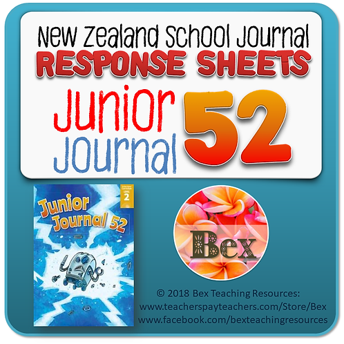 NZ Junior Journal 52 Reading Responses