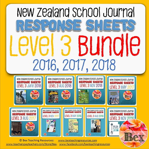 New Zealand School Journal Level 3 - 2016, 2017, 2018 Bundle