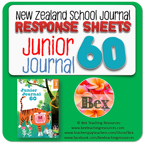 NZ Junior Journal 60 Reading Responses