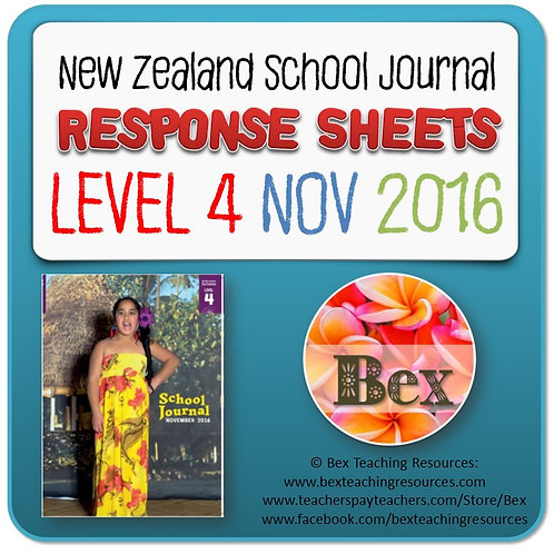 NZ School Journal Responses - Level 4 November 2016