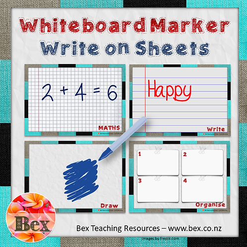 Whiteboard Marker Write on Sheets (Code. BEXFREE)