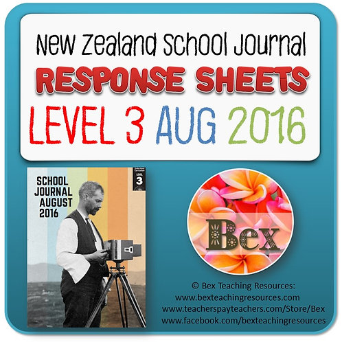 NZ School Journal Responses - Level 3 August 2016
