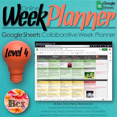 NZ Online Week Planner L4 - Google Sheets