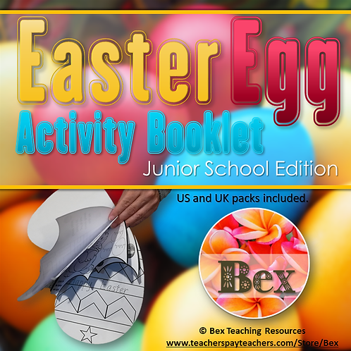 Easter Egg Activity Booklet - Junior School Edition