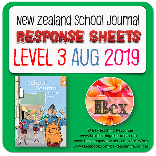 NZ School Journal Responses - Level 3 August 2019
