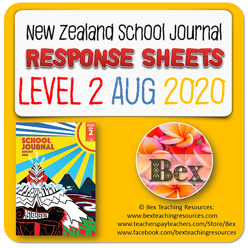 NZ School Journal Responses - Level 2 August 2020
