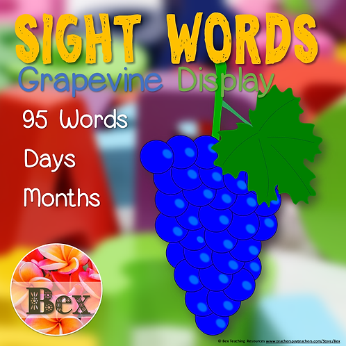 95 Sight Words Grapevine Display