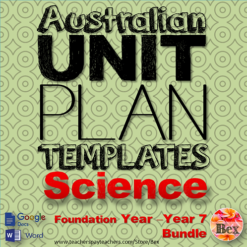 Australian Unit Plan Templates - Science Pack - Foundation Year - Year 7