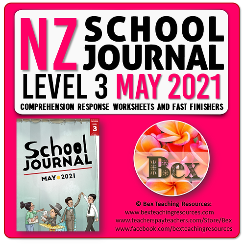NZ School Journal Responses - Level 3 May 2021