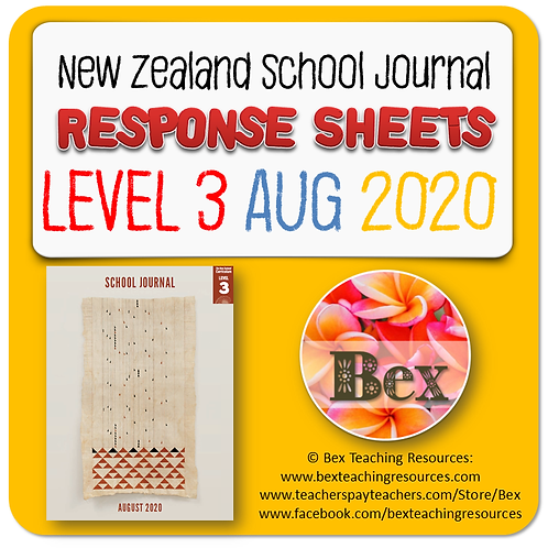 NZ School Journal Responses - Level 3 August 2020