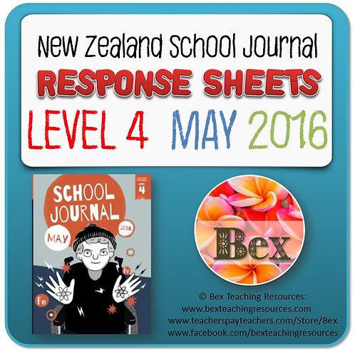 NZ School Journal Responses - Level 4 May 2016