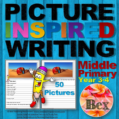 Picture Inspired Writing - Middle Primary Yr 3-4