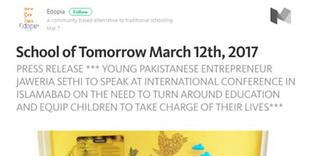 Medium.com   School of Tomorrow March 12th, 2017